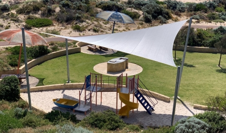 Playground Shade Sail Drone